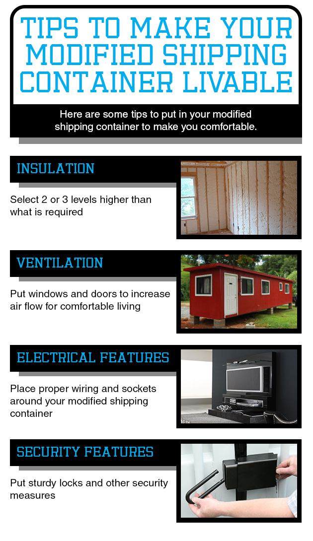 Tips To Make Your Modified Shipping Container Livable